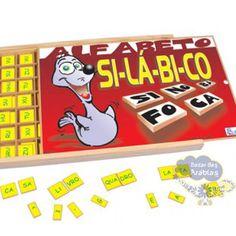 Alfabeto Silábico, Alfabeto Silábico Carimbras, Brinquedos Carimbras, Brinquedos Educativos, Brinquedos de Madeira, Aprender Brincando, Brinquedos Didáticos