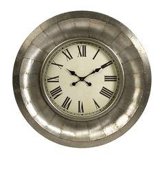 "Oversized 33.25"" Mesick Aluminum Clock"