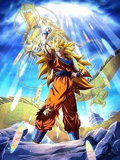 [Golden Fist] Super Saiyan 3 Goku/Dragon Ball Z: Dokkan Battle Dragon Ball Gt, Anime Zone, Anime Echii, Ssj3, Super Anime, Son Goku, Goku Wallpaper, Mobile Wallpaper, Goku Meme