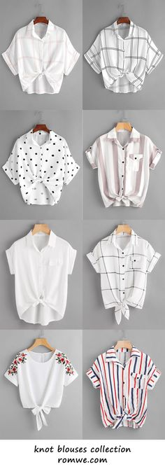 knot blouses collection 2017 - romwe.com