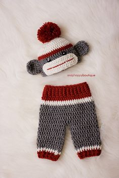 Hey, I found this really awesome Etsy listing at https://www.etsy.com/listing/162943033/baby-sock-monkey-prop-set-newborn-3-6