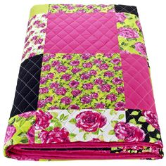 Ragged Rose Aida Patchwork Quilt,