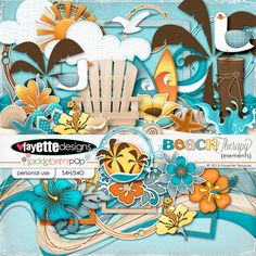 (Part of 6/13 Pickle Barrel products ... $1 each)  Beach Therapy - The Elements by Fayette Designs