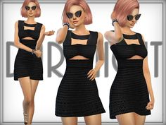 Cutout Mesh Mini Dress  Found in TSR Category 'Sims 4 Female Everyday'