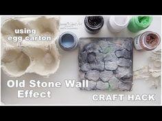 DIY Old Stone Wall Effect ♡ Craft Life Hack ♡ using egg carton ♡ Maremi's Small Art ♡ - YouTube