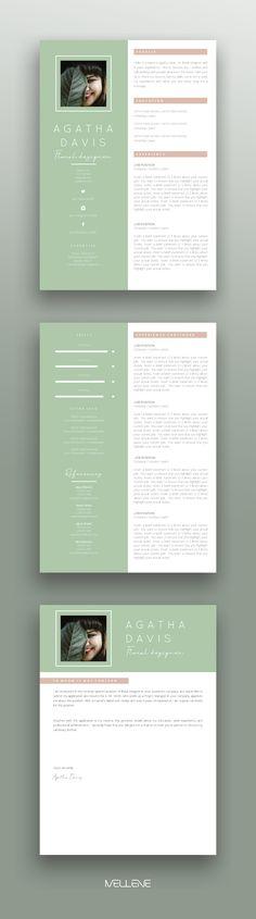 Resume, CV template for MS Word. Resume Design Template, Cv Template, Resume Templates, Card Templates, Cover Letter Layout, Cover Letter Design, Cv Design, Page Design, Brand Design