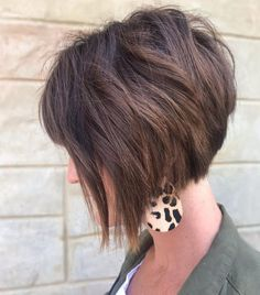 20 Trendy Ways to Wear Short Angled Bob Haircuts Short Angled Hair, Short Curly Bob Haircut, Short Stacked Bob Haircuts, Angled Haircut, Bob Hairstyles For Thick, Haircuts For Curly Hair, Short Hair With Layers, Haircut For Thick Hair, Short Hair Cuts
