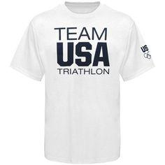 USA Triathlon Basic T-Shirt - White... look LEGIT! USA! $22.95!