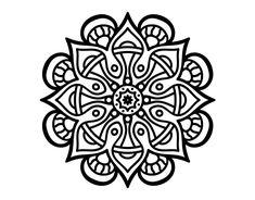 Dibujo de Mandala mundo árabe para Colorear
