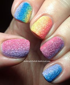 Ashley is PolishAddicted: Zoya PixieDust Collection for Summer 2013 - Swatches, Review and Rainbow Gradient! ♥