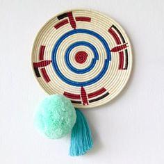 Wall Basket | Chunga Round - Mint $129