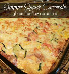 A gluten free, low carb summer squash casserole.