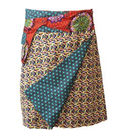 Rosanna Skirt Long - Aqua Dot - Geo Reverse