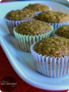 Apple Butter Oatmeal Muffins - Mom's Test Kitchen