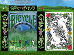 Flowers, Playing Cards printed by BICYCLE® by AlieN InK, via Kickstarter. Playing Cards for Games Designed with Flower Art Illustrations Innovative Custom design, Magic Finish, Beautiful Cool Bicycle Cards, Bicycle Playing Cards, Art Illustrations, Illustration Art, Cool Playing Cards, Raise Funds, Game Design, Flower Art, Custom Design