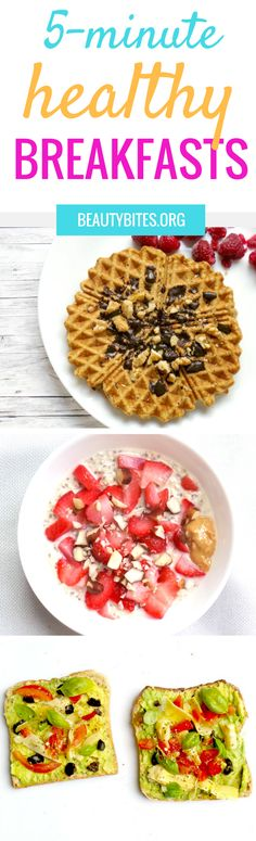 5 tasty, quick, easy & healthy breakfast ideas that will keep you full longer and help you lose weight! http://www.beautybites.org/easy-healthy-breakfast-ideas-keep-you-full/