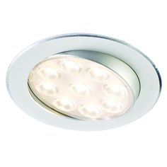Orbit Tiltable LED Surface/Recess Light The tiltable centre section of this fitting allows you to direct the light to the position on the worktop or in a cabinet as you require.