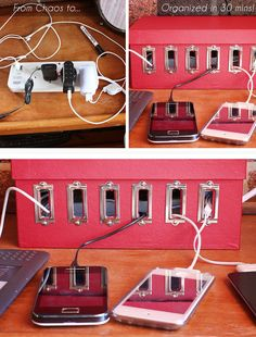 How to DIY Shoe Box Charging Station for Your Devices