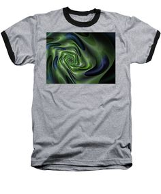 Purchase a baseball t-shirt featuring the image of Abstract Labyrinth Fractal by Marina Usmanskaya.  Available in sizes S - XXL.  Each t-shirt is printed on-demand, ships within 1 - 2 business days, and comes with a 30-day money-back guarantee.  Fantastic cosmic labyrinth turning into an earthly rose   #MarinaUsmanskayaFineArtDigitalArt #Fractal