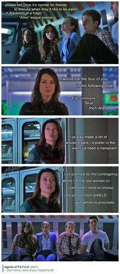 Don't worry, none of you made the list || Jemma Simmons, Skye, Melinda May, Leo Fitz, Grant Ward || Agents of PSYCH || #humor #fanedit #crossover