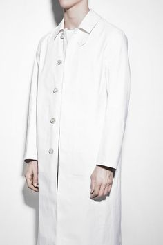 fe2be2c58b5a Off White Bonded Cotton Lab Coat