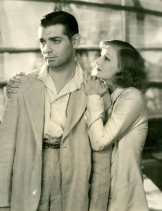 """Clark Gable and Greta Garbo, """"Susan Lennox, Her Fall and Rise"""", 1931."""