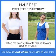 A Halftee is a cropped cami that is super soft, with a stretchy, non-slip soft band that comes right under your bra. It is available for girls and women (in sizes), and works amazingly well for maternity and breastfeeding moms! Modest Outfits, Classy Outfits, Cute Outfits, Beautiful Maternity Dresses, Cropped Cami, Boho Floral Maxi Dress, Breastfeeding Clothes, Feminine Style, Feminine Fashion