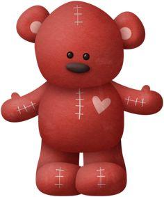 """Photo from album """"Bear*Hugs"""" on Yandex. 1 Clipart, Bear Clipart, Polly Pocket, Red Teddy Bear, Teady Bear, Couple Wallpaper, Cute Bears, Tigger, Cute Couples"""