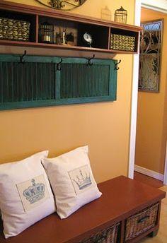 undefined shutter as coat rack