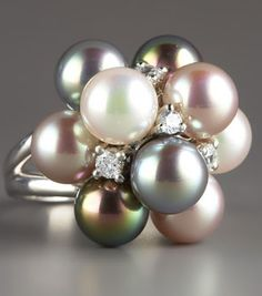Pearl Cluster Ring by Majorica
