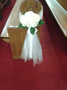 use the hydrangeas without tulle - maybe the only decorations needed in church