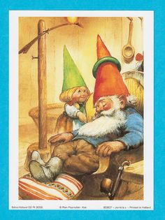 Illustration of David the gnome and Lisa by Rien Poortvliet.