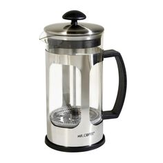 Mr. Coffee Daily Brew 1.2QT Coffee Press, Glass