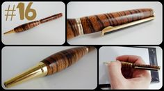 #16 Woodturning a zebra wood pen