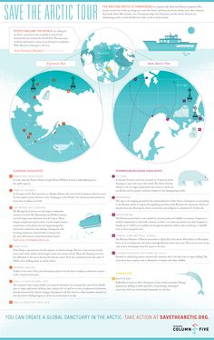 Greenpeace Infographic: Save the Arctic Tour - Column Five Media