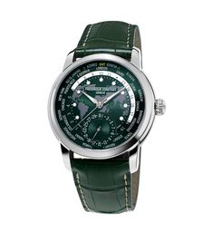 Frederique Constant Classic Worldtimer Manufacture - green- soldier