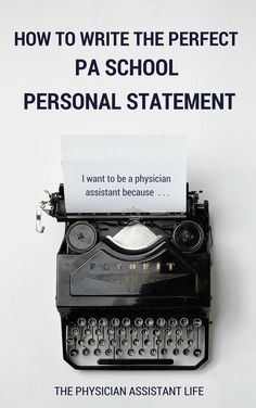 How do I go about writing a personal statement?