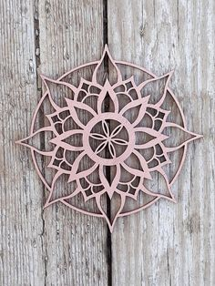 """Desert Rose"" Mandala, Bohemian Style Art Wood Wall Hanging, Sacred Geometry Spiritual Home Decor Gift, Small Size. Walls are the backdrop for your furniture and home decor, and they set the tone more than you'd think. Mandala wood décor will fill white s 3d Zeichenstift, Stencil, Indian Wall Art, Style Bleu, 3d Laser, Art Mural, Room Wall Decor, New Home Gifts, Bohemian Decor"