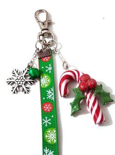 Bijoux de sac Noël sucre d'orge porte clé Noël par Passionnella                                                                                                                                                                                 Plus