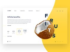 DisFruit Fruit delivery concept - Delivery Food - Ideas of Delivery Food - DisFruit Fruit delivery concept by David Rodríguez Arias Website Design Layout, Wordpress Website Design, Graphic Design Layouts, Web Layout, Brochure Design, Layout Design, Website Design Inspiration, Graphic Design Inspiration, Fruit Delivery
