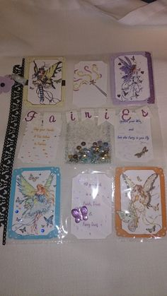 Fairies Pock Letters with butterflies.