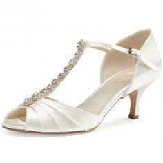 Fantasy by Pink for Paradox London Ivory or White Dyeable Wedding or Occasion Shoes