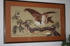Bunka shishu Japanese Culture, Embroidery, Frame, Crafts, Beauty, Home Decor, Birds, Beleza, Homemade Home Decor