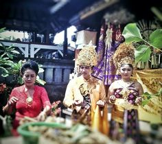 Traditional wedding from Bali