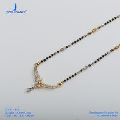 Gold 916 Premium Design Get in touch with us on Gold Mangalsutra Designs, Gold Jewellery Design, Gold Jewelry, Beaded Jewelry, Diamond Jewellery, Indian Jewelry Earrings, Bridal Jewelry, Gold Necklace Simple, Trendy Jewelry