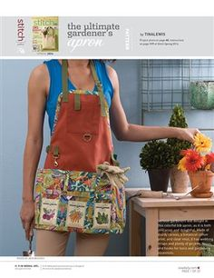 This file contains pattern pieces only.Project instructions are in Stitch magazine's Spring 2014 issue. Serious gardeners will delight in this colorful bib apron, as it is both utilitarian and delightful. Download Now Other sewing topics you may enjoy:Silk Patchwork Clutch: Free Sewing PatternModern Pillow Cover: Free Sewing PatternLaminated Cotton Picnic Bag: Free Sewing PatternMonster Lunch…