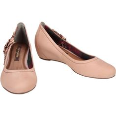 #Scarpin Cravo Rosa Anabela rose #Shoes