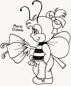 Riscos graciosos (Cute Drawings): Riscos de abelhinhas, joaninhas e borboletas (Bees...