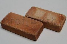 Šamotová rustikální cihla cihla 198x87x48 mm - oblé hrany  / Profistavba