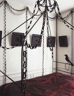 ...the guest room for those who like a darker mood...although the walls would be RED